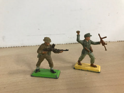 1960's Britains Deetail WWII British Army Metal Figures 1/32