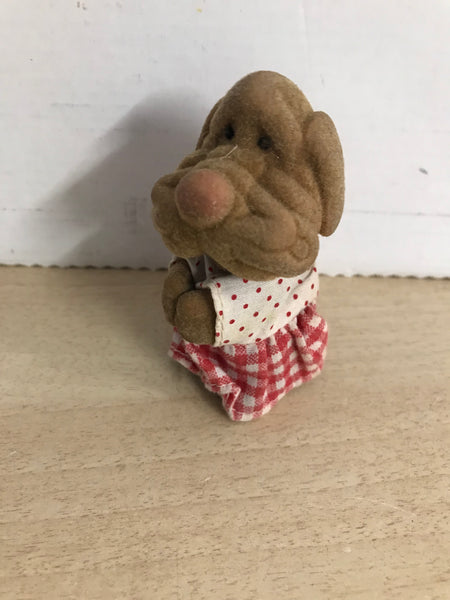 1982 Vintage Ganz Bros RARE 3 inch Wrinkles Puppy Press Hands Open and Close