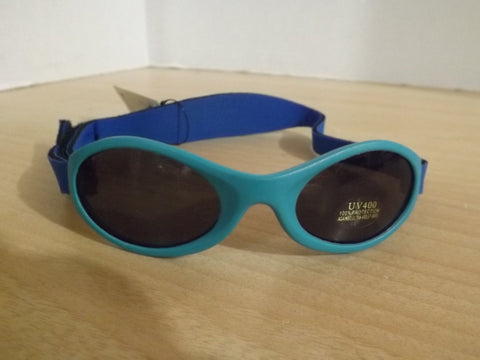 Sunglasses Child Size 0-2 New UV Ray Baby Banz Style Blue
