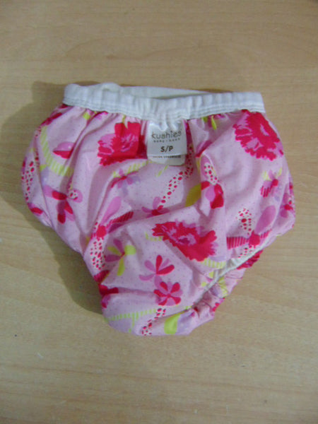 Kushies Potty Small 22-29 LB Taffeta Waterproof Pull Up Training Pants ALL NEW Pink Flowers