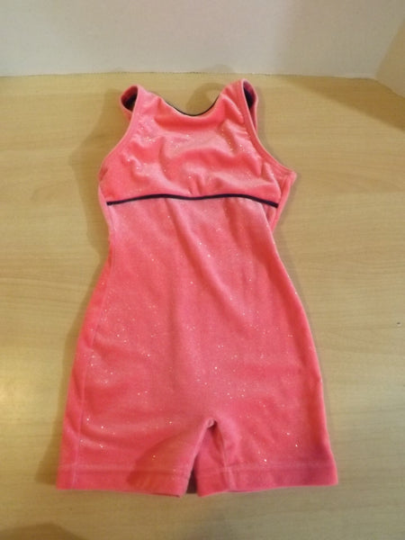 Ballet Dance Figure Skating Child Size 6x Capezio Pink Glitter Velvet Leotard New Demo Model