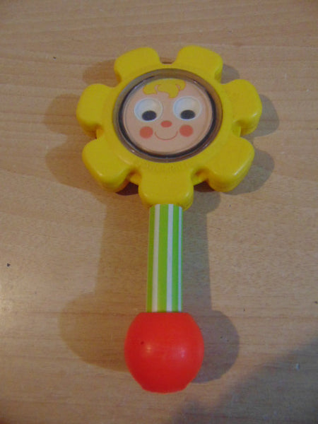 Fisher Price Vintage Toys 1970s Sunflower Baby Rattle