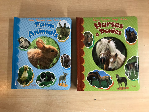 2 Baby Animals Large Toddler Boards Books