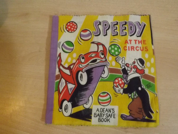 Vintage Deans Safe Cloth Baby Book Speedy At The Circus Made In Great Britian