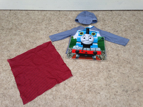 3 pc Thomas The Tank Train Dress Up Costume Toddler Size 2 As New