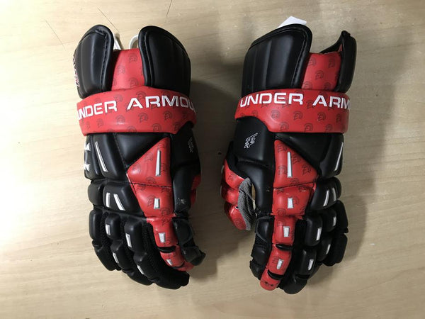 Lacrosse Gloves Child Size X Large Under Armour Heat Gear Black White