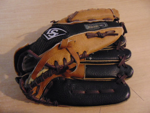 Baseball Glove Child Size 11 inch Louisville Slugger Black Tan Leather Fits on Left Hand