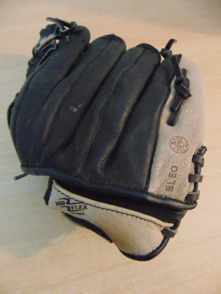 Baseball Glove Adult Size 11 inch Youth Rawlings Leather Black Tan Fits on RIGHT hand