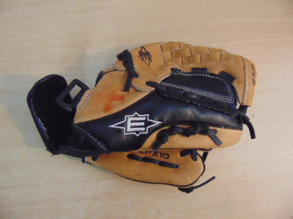 Baseball Glove Child Size 10 inch Easton Black Tan Leather Fits on Left Hand