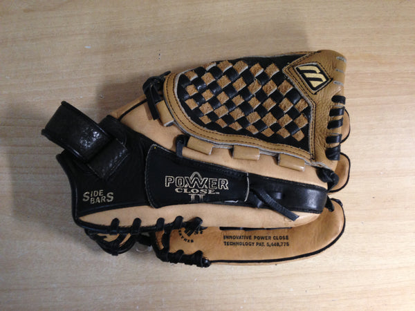 Baseball Glove Adult Size 11.5 inch Mizuno Leather Brown Black Fits on Left Hand
