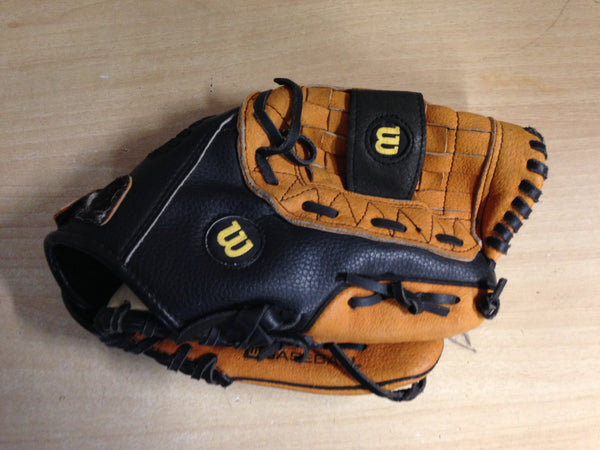 Baseball Glove Adult Size 11 inch Wilson C245 Leather Black Brown Fits on Left Hand Excellent