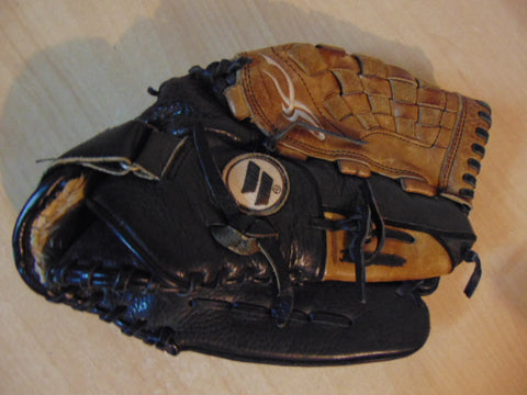Baseball Glove Adult Size 13  inch Worth Soft Leather Black Brown Fits on Left Hand Excellent