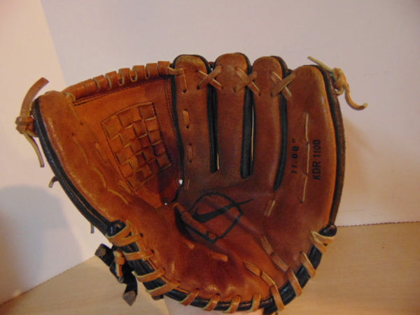 Baseball Glove Child Size 11 inch Nike Brown Black Leather Fits on Left Hand
