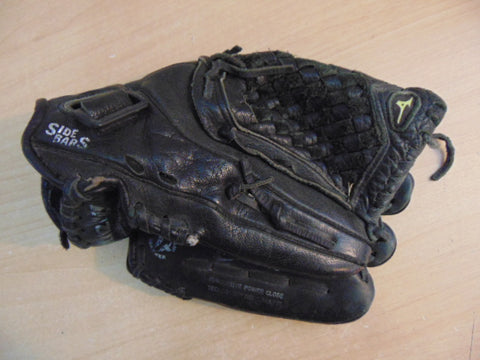 Baseball Glove Adult Size 12.5 inch Mizuno Black Leather Fits on Left Hand