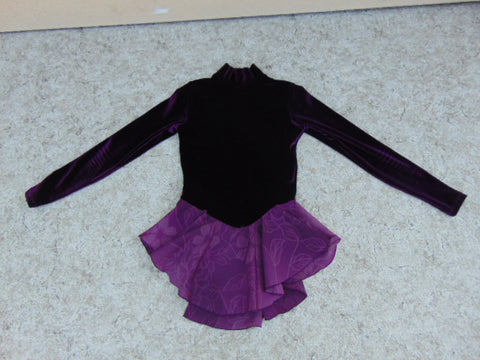Ballet Dance Figure Skating Dress Child Size 8-10 Jerry Deep Purple Velour Fantastic Quality As New