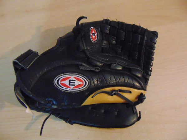 Baseball Glove Adult Size 11.5 inch Easton USA Leather Black Tan Fits on Left Hand Outstanding Quality