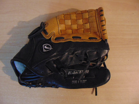 Baseball Glove Child Size 11 inch Nike Black Tan Leather Fits on Left Hand