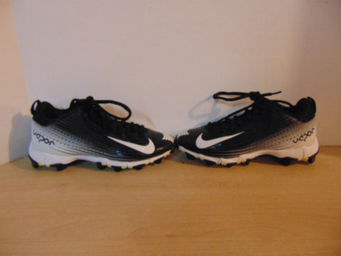 Baseball Shoes Cleats Child Size 5 Nike Vapor Black White Grey Lime Excellent