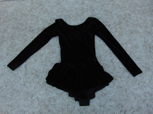 Ballet Dance Figure Skating Dress Child Size 10-12 Mondor Black Velour As New Excellent