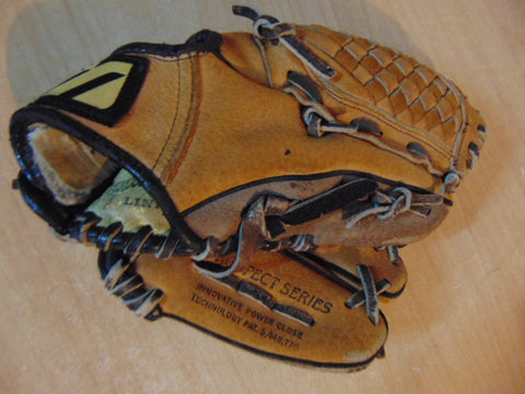 Baseball Glove Child Size 10 inch Mizuno Soft Leather Brown Black Fits on Left Hand