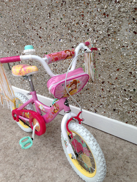 Bike Child 14 inch Belle Princess Beauty Beast With Training Wheels As New Mint Condition