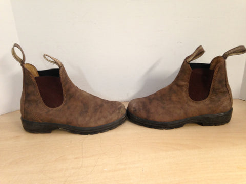 Blunstones Men's Size 5.5 Ladies Size 6.5 Crazy Horse Brown Excellent