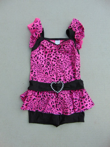 Ballet Dance Figure Skating Child Size 8-10 A Wish Come True Fushia Pink Black With Bling New Demo Model