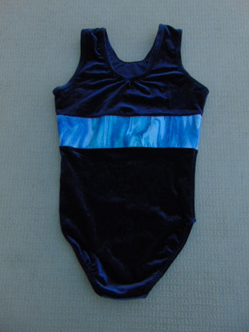 Ballet Dance Figure Skating Child Size 10-12 Velour Leotard Blue Made In England New Demo Model