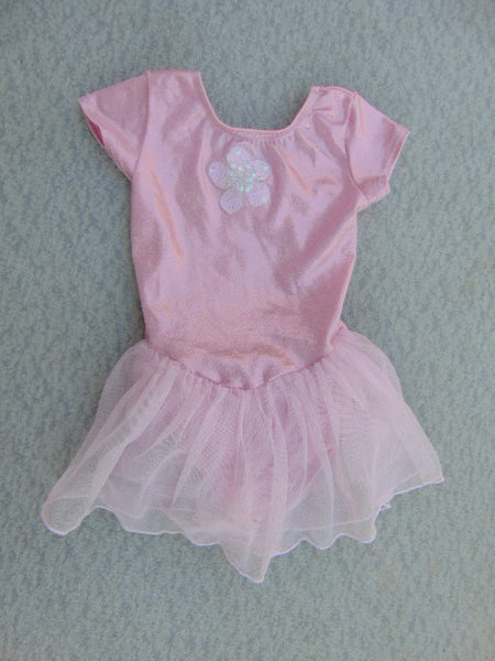 Ballet Dance Figure Skating Dress Child Size 5-6 Pink Nylon Poly Glitter