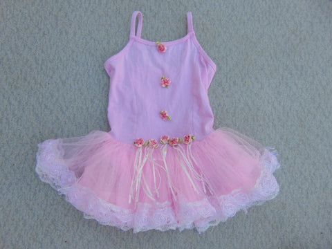 Ballet Dance Figure Child Size 8 Sleeveless Pink Cotton Spandex Tutu