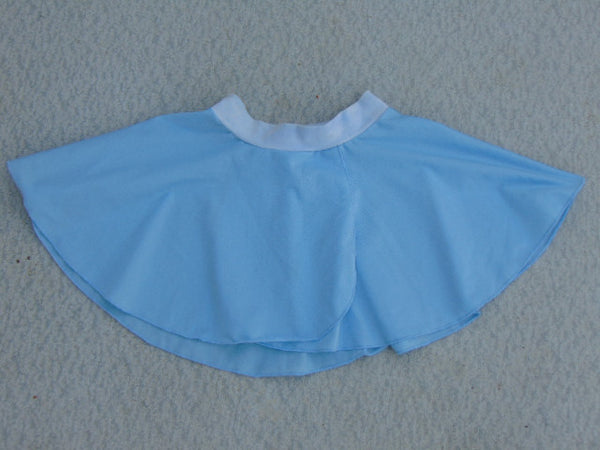 Ballet Dance Figure Skating Dress Child Size 8-10 Skirt Blue Nylon Spandex