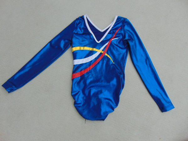Ballet Dance Gymnastics Leotard Child Size 14-16 Blue Multi