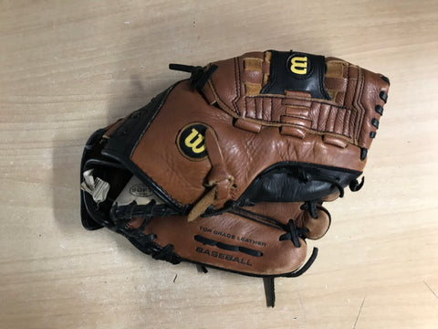 Baseball Glove Adult Size 11 inch  Wilson Black Brown  Leather Fits on Left Hand