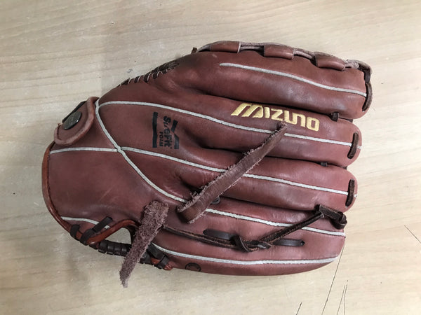 Baseball Glove Adult Size 12 inch Mizuno Brown Leather Fits on RIGHT Hand