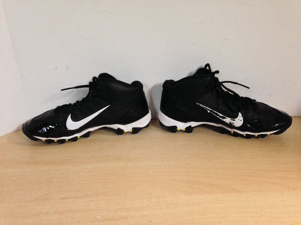 Baseball Shoes Cleats Child Size 5  Nike Black Lime White Lime