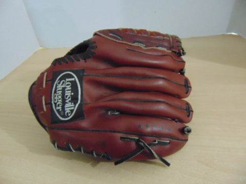 Baseball Glove Adult Size 12 inch Louisville Slugger Brown Leather Fits on RIGHT Hand
