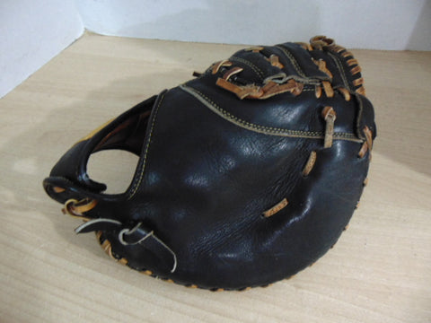 Baseball Glove Child Size 11 inch Youth Back Catchers Cooper Black Leather Fits On Right Hand