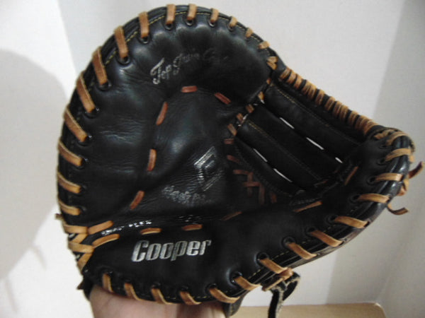 Baseball Glove Size 11 inch Child Youth Back Catchers Cooper Black Leather Fits On Right Hand