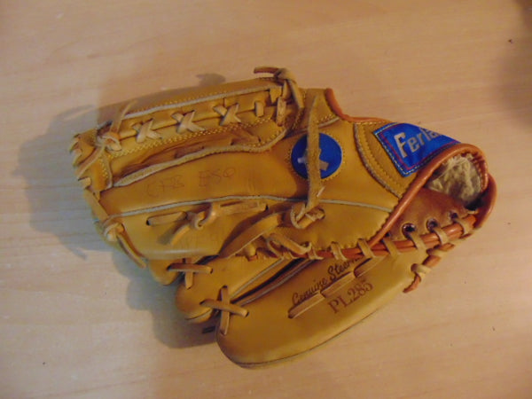 Baseball Glove Adult Size 12.5 inch Ferland Leather Tan Fits on RIGHT hand