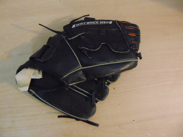Baseball Glove Child Size 10 inch Nike Black Leather Fits on Left Hand