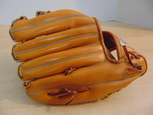 Baseball Glove Child Size 11 inch Youth Tiger Leather Tan Fits Left Hand