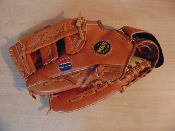 Baseball Glove Adult Size 13 inch Mag Leather Fits on RIGHT Hand