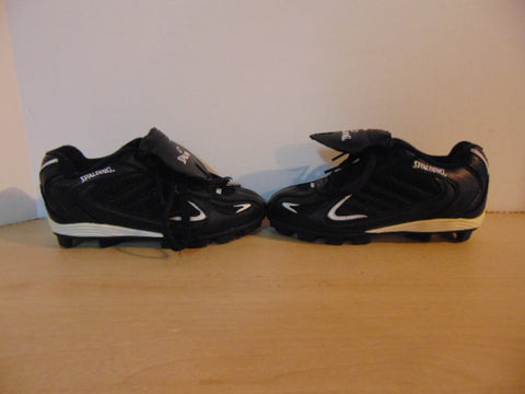 Baseball Shoes Cleats Child Size 12 Spalding Black White