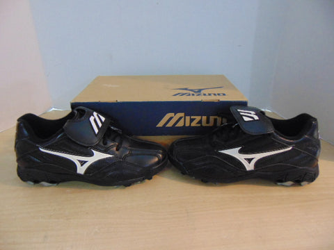 Baseball Shoes Cleats Child Size 5.5 Youth Mizuno Black White NEW IN BOX