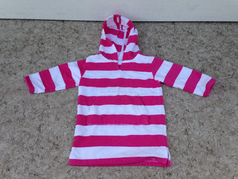 Beach Pool Bath Dress Child Size 2-3 Pottery Barn Terri Towel Pink White