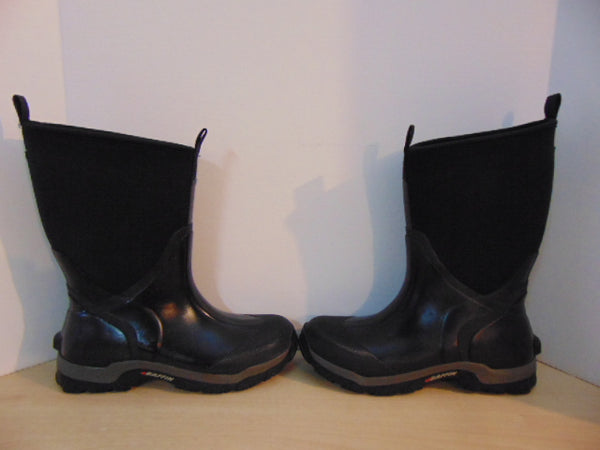 Bogs Style Men's Size 9 Baffin Swamp Neoprene Rubber Boots Excellent Black