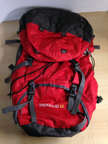 Camping Adventures Free Knight 60L Hiking Mountaineering Camping Trekking Red Backpack Excellent