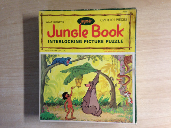 Child Jigsaw Puzzle 100 pc 1960'S Walt Disney's Jaymar Jungle Book Baloo and Mowglie Duet