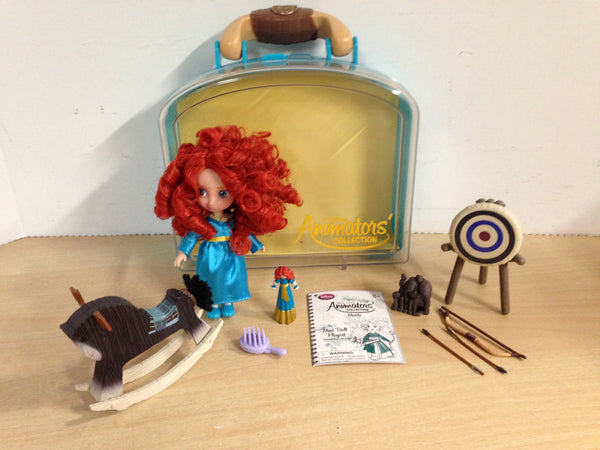 Disney Animators' Collection Princess Merida  Mini Doll Play Set 5 inch Excellent As New
