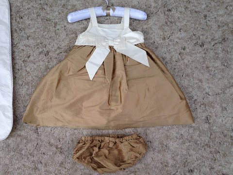 Dress Child Size 12-18 Month Desiigner Jane and Jack Satin With Panties and Dress Bag